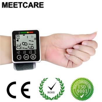 Home Health Care Wrist Blood Pressure Monitor Household Automatic Digital LCD Sphygmomanometer Hypertension Heart Pulse Oximeter