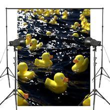 Water Duck Toys Photography Background Happy Hour Backdrop Children Bedroom Wallpaper Studio Props 150x220cm