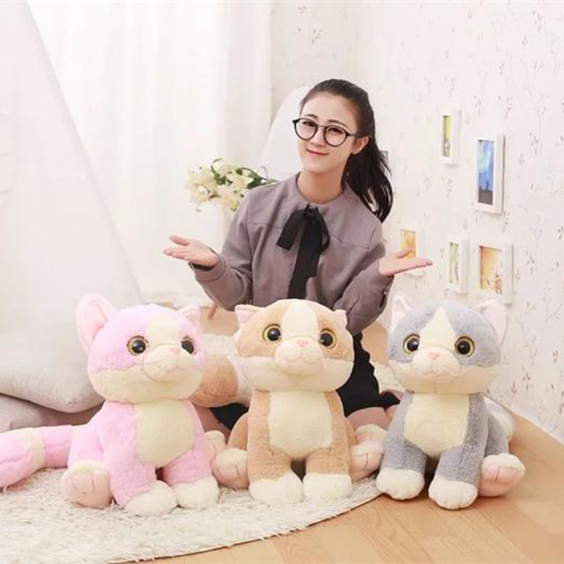 Lovely Kaiwai 40CM Cat Plush Toys Long tail Cat Dolls Soft Stuffed Animals toys Brinquedos Gifts for Children&Friend 5pcs lot pikachu plush toys 14cm pokemon go pikachu plush toy doll soft stuffed animals toys brinquedos gifts for kids children
