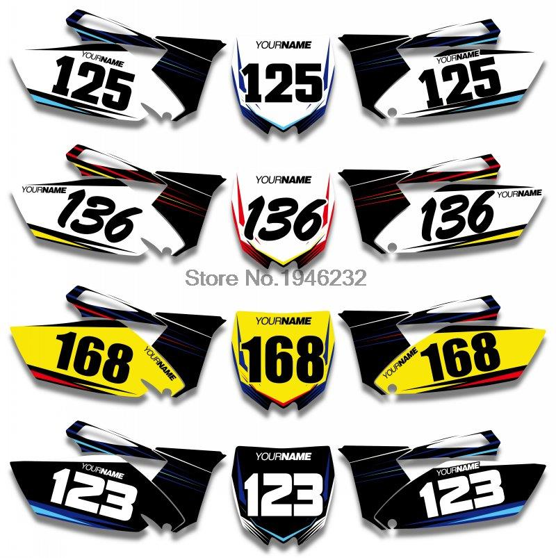 H2CNC Custom Number Plate Background Graphics Sticker & Decal For Yamaha YZ250F YZF250 2010 2011 2012 2013 YZ 250F YZF 250