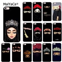 MaiYaCa müslüman İslam kız gözler yumuşak silikon telefon kılıfı için iPhone 8 12pro 6 6S artı X XS MAX XR 5S SE 11pro max Coque kabuk
