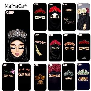 Image 1 - Maiyaca islâmico muçulmano gril olhos macio silicone caso de telefone para o iphone 8 12pro 6s plus x xs max xr 5S se 11pro max coque escudo