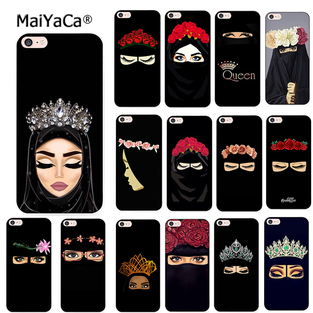 Maiyaca islâmico muçulmano gril olhos macio silicone caso de telefone para o iphone 8 12pro 6s plus x xs max xr 5S se 11pro max coque escudo