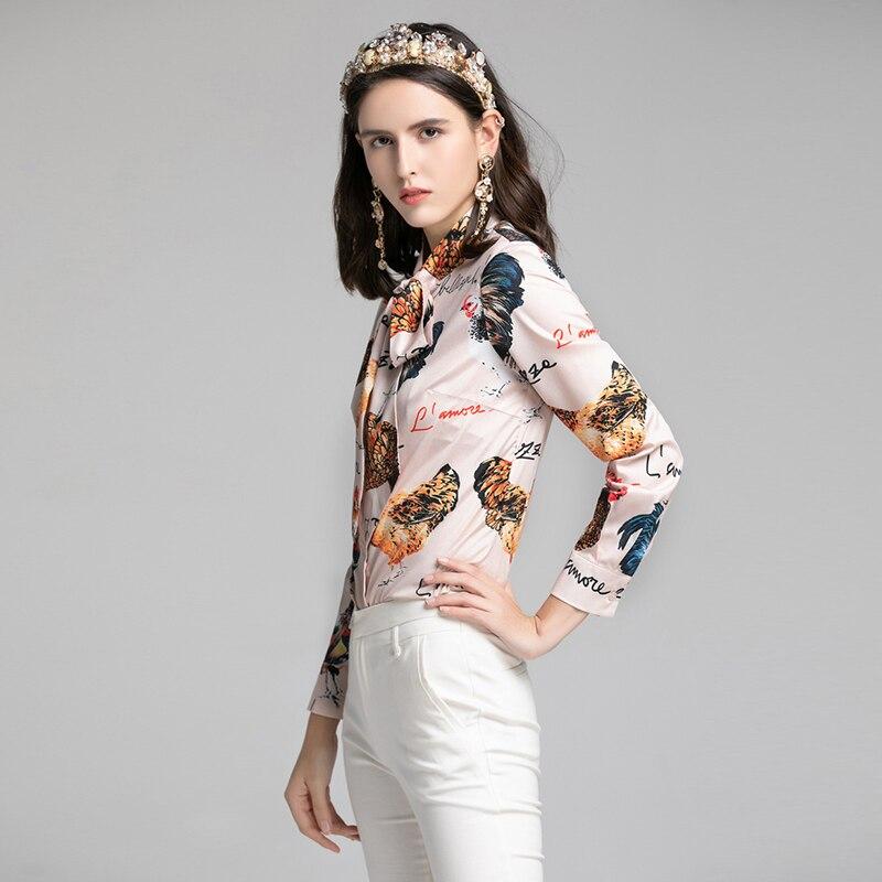 Vintage Camicia Donne Donna In Da Rosa Colore Chiffon Xxxl E Stampato Floral Primavera 2019 Delle Fiocco Camicetta Camicette Di Femminile Xxl Pollo Magliette Modo Disegno wTqOxIWC4