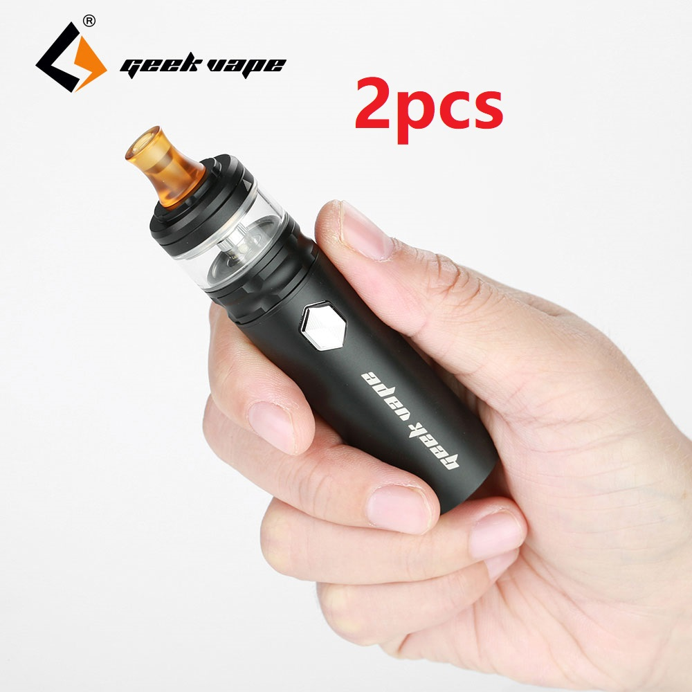 Original 2pcs Geekvape Flint Starter Kit 1000mAh Built in Battery 2ml Flint Tank Waterproof MTL E