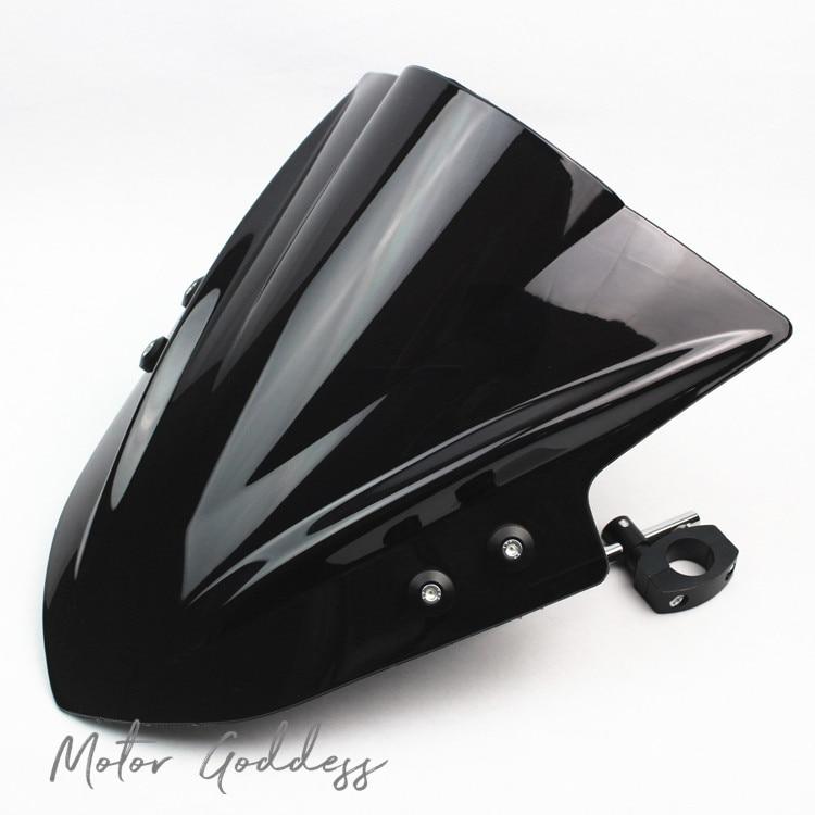 Motorcycle Windshield Windscreen With Adjustable Bracket Wind Screen For Kawasaki ZRX1200 KLE650 VERSYS1000 Z800 Z1000 ER-4N ER6