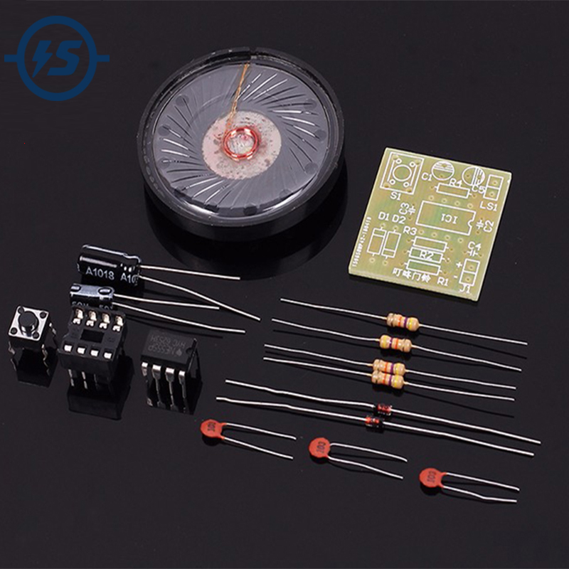 5pcs DIY Kit Electronic Doorbell Package NE555 Precise Electronic Production Transformer Sound Circuit Processing Board