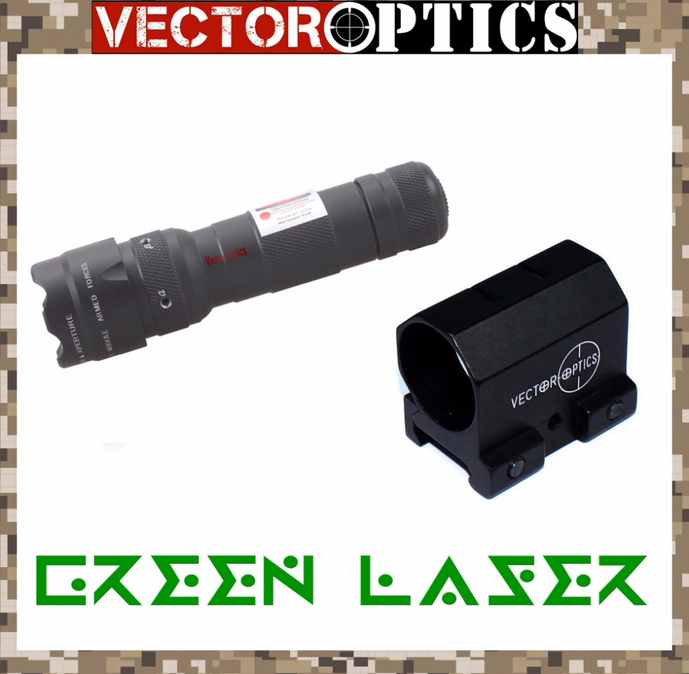 Vector Optics Starscream Adjustable Hunting Green Laser Dot Sight Collimator Gun Lazer fit for Tactical Rifle Airsoft
