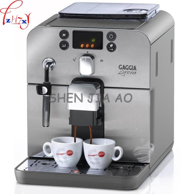 Negocios/hogar automática máquina de café italiano 1.2L Cafetera Inteligente Acero inoxidable máquina de café italiano 220 V 1 unid