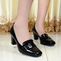 women's shoes,genuine leather square toe high heels women pumps,dress shoes for women office shoes,big size shoes 8166-4