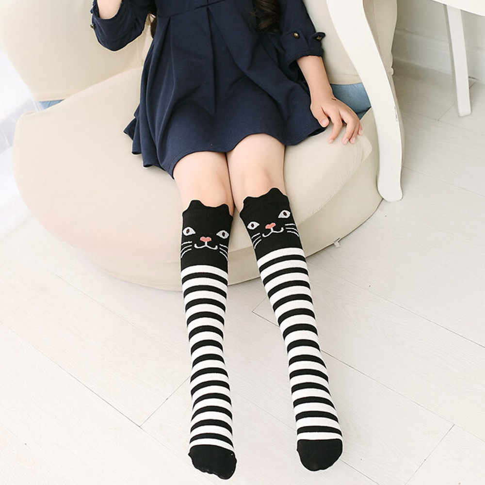 d40bd2128 ... 2018 Lovely Cute Kawaii Girls Stockings Character Printed Children Kids  Girl Animal Pattern Knee High Socks