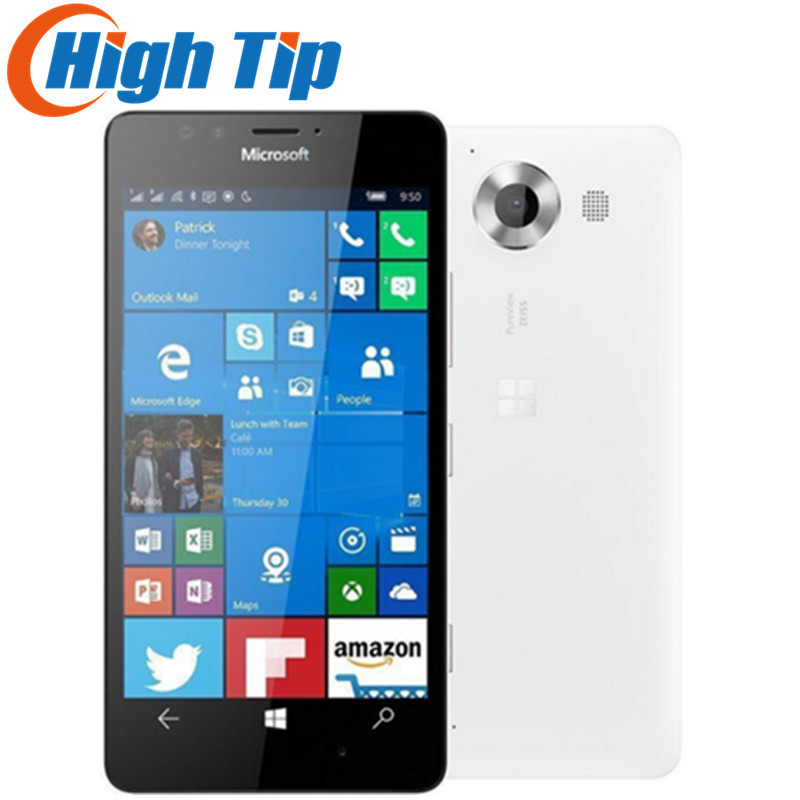 Microsoft Lumia 950 Dual Sim Desbloqueado Original Do Telefone Móvel LTE GSM 5.2 ''20MP WIFI GPS Hexa Core 3 gb RAM gb ROM 32