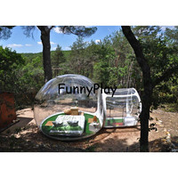 outdoor bubble camping tent transparent beach tents with free blower and repair kit,inflatable snow winter tents with corridor