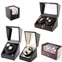Sandalwood Luxury Automatic Watch Winder Boxes Full Model Slient Japan Motor for Brand Watches Display&Storage