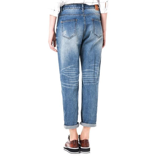 a20129b58e7 Online Shop 2018 LEIJIJEANS Spring Plus Size Fashion Ripped Hole ...
