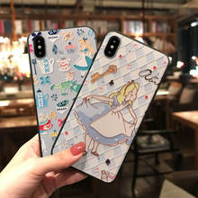 Blue And White Princess For Iphone 6 6s 7 8P X Xs Xr Max Drop Mobile Phone Case