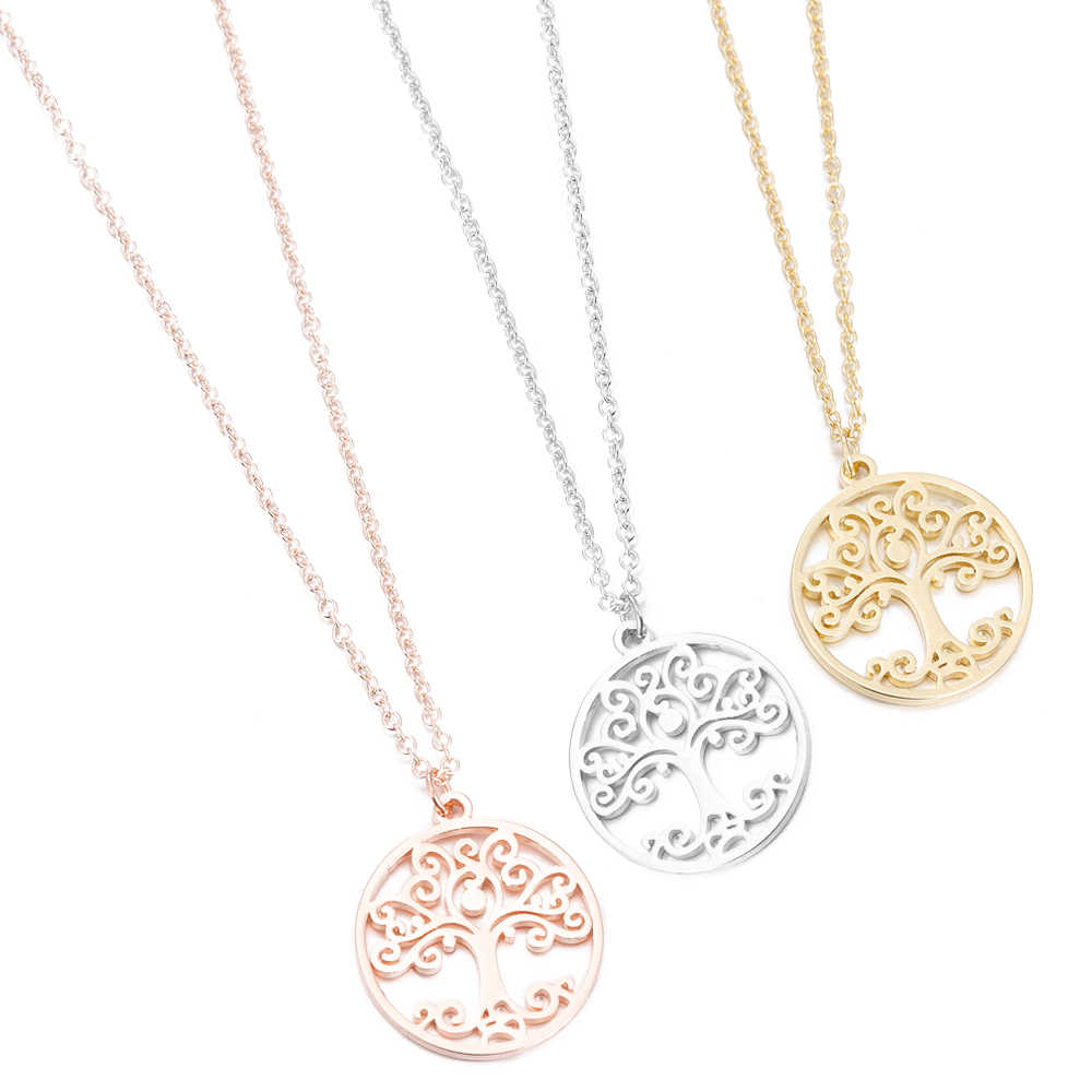 Stainless Steel Necklaces Women Flower Of Life Mandala Pendant Necklaces Sacred Geometry Spiritual Necklace Jewelry Gifts