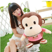 moneky doll baby animal toy plush cushion pillow lovely toy for kids