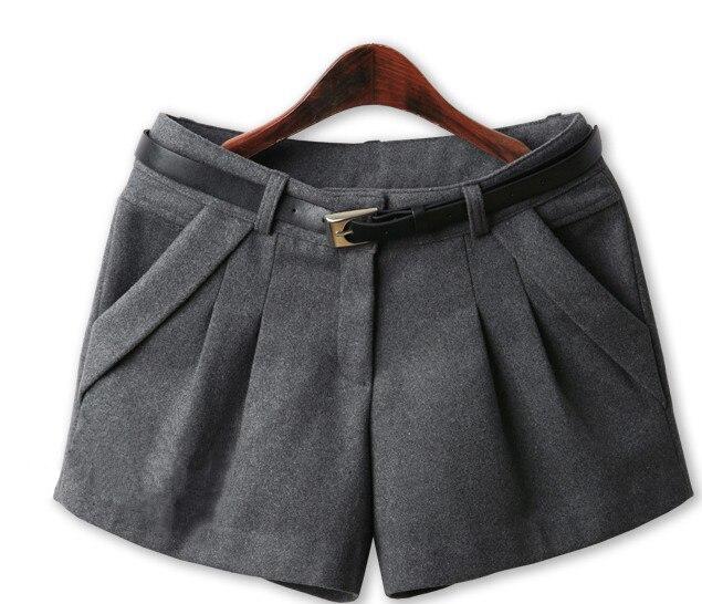 New Brand Spring Winter Women shorts Plus Size Mid Waist Shorts  woolen Slim Casual Shorts Women Hot-selling