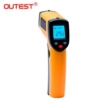 GM320 Non-Contact Laser Gun Infrared Digital IR Thermometer industrial LCD with Back Light 330 Centidegree + Free Shipping