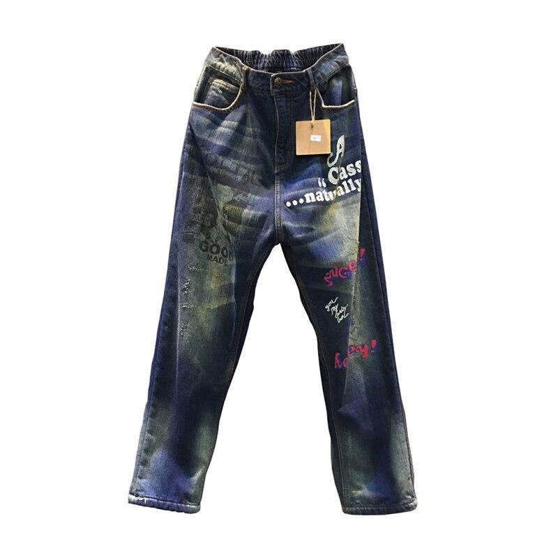 Pantalones Casual Elástica Invierno Largo Envío De Dril Moda Azul Gratis 2017 Para Caliente Mujeres Nueva Cintura q7XXwPg