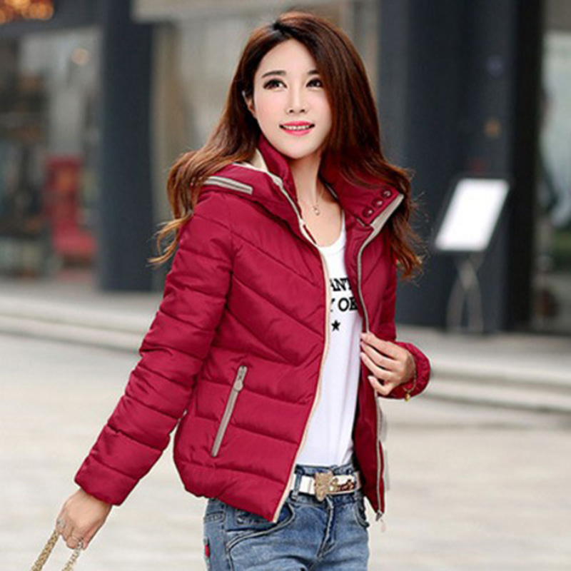 1PC Winter Jacket Women Hooded Cotton Parkas Women Winter Coat Jaqueta Feminina Chaquetas Mujer Casacos De Inverno Feminino Z516(Hong Kong,China)