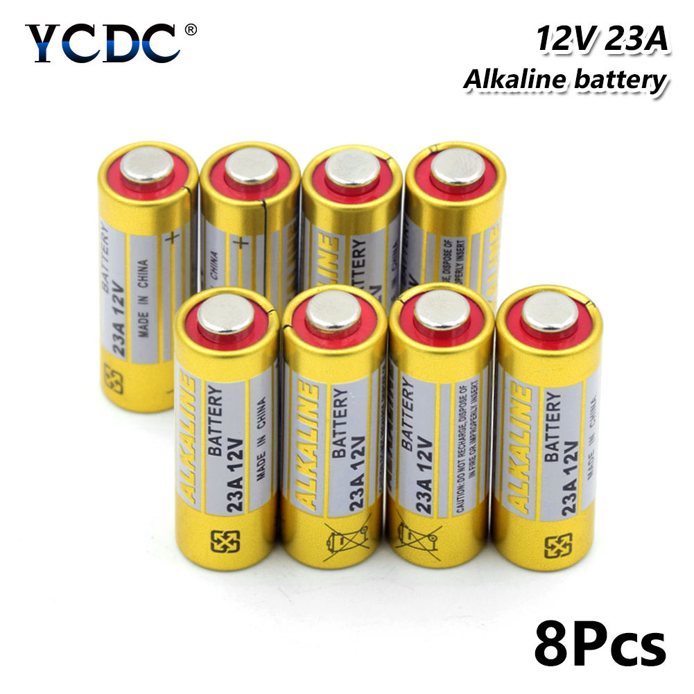 8 Pieces <font><b>12v</b></font> 23A Dry <font><b>Battery</b></font> GP23A GP23AE 23A 23AE 23GA <font><b>A23</b></font> A23S E23A 21/23 Alkaline <font><b>Batteries</b></font> For Remote Control Doorbell image