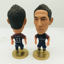 Soccerwe Angel Di Maria Doll PSG11# Football Team 2018 Home Blue Kit Sports Figure 2.6 Inches Height Resin(China)