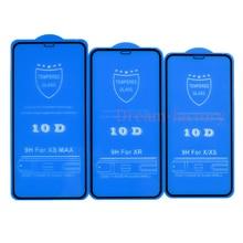 100個10D強化ガラススクリーンプロテクターiphone 12ミニ11プロマックス6 6s 7 8プラスx xs最大xr送料dhl