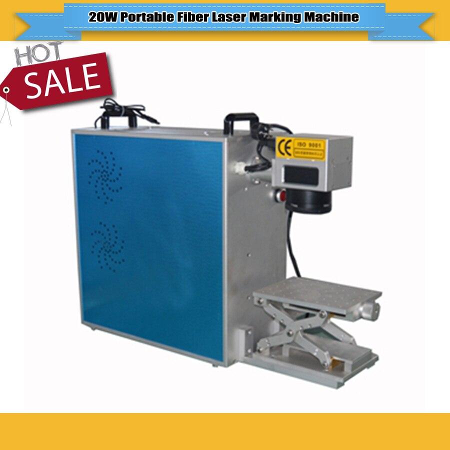 20W Fiber Laser Marking Machine Metal CNC Laser Engraving Machine For Ring Marking