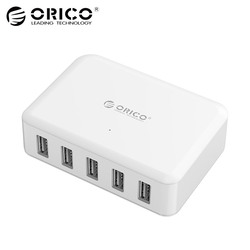 ORICO USB Charger 8A 40W 5 Ports Charger Adapter for Mobile Phone iPhone 8 Plus Samsung s9 s8 Usb Chargers