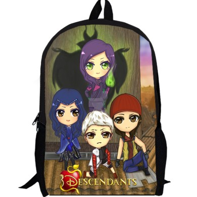 6bd463e5497 17inch Backpack casual double layer Boys and Girls women men Bag children  anime school bags custom made Mal Carlos Evie Jay