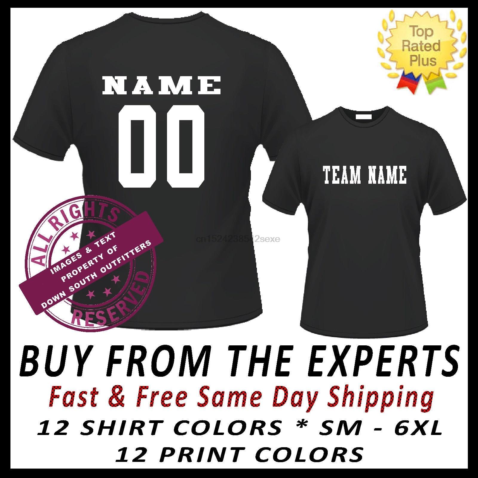 Custom Jersey Team Name Number Sports T Shirt Baseball Softball
