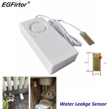 Домашняя сигнализация, детектор утечки воды, 110 дБ, независимый датчик утечки воды, обнаружение наводнения, оповещение о переливании, охранн...