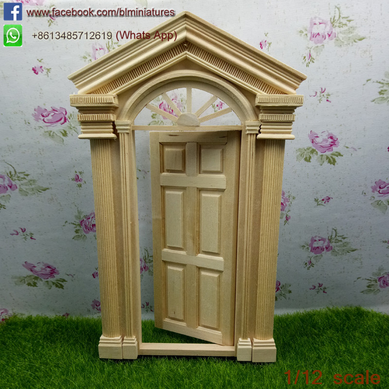 1 12 scale unfinished diy diy doll house miniature for Wooden fairy doors that open