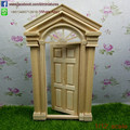 1/12 Scale Unfinished  DIY  Doll House Miniature Fairy Door Open Inward  Dollhouse Accessories No Painting  Free Shipping
