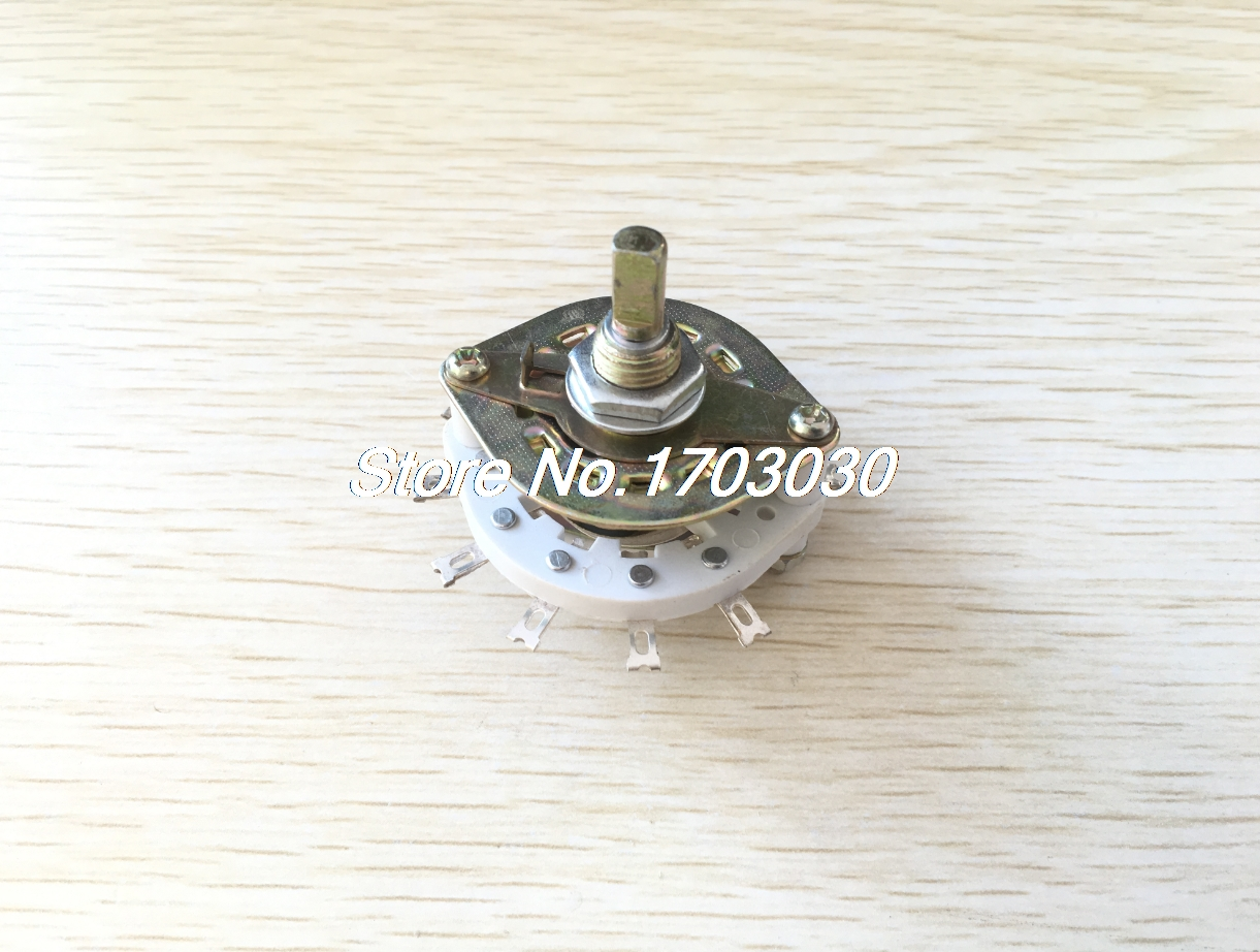 1P10T 1 Pole 10 Position One Deck 11 Pins Band Channel Rotary Switch 4pcs band channael rotary switch 2p3p 2 pole 3 position single deck