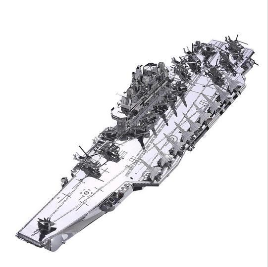 plan liaoning cv 16 boat silver color 3d diy laser cutting