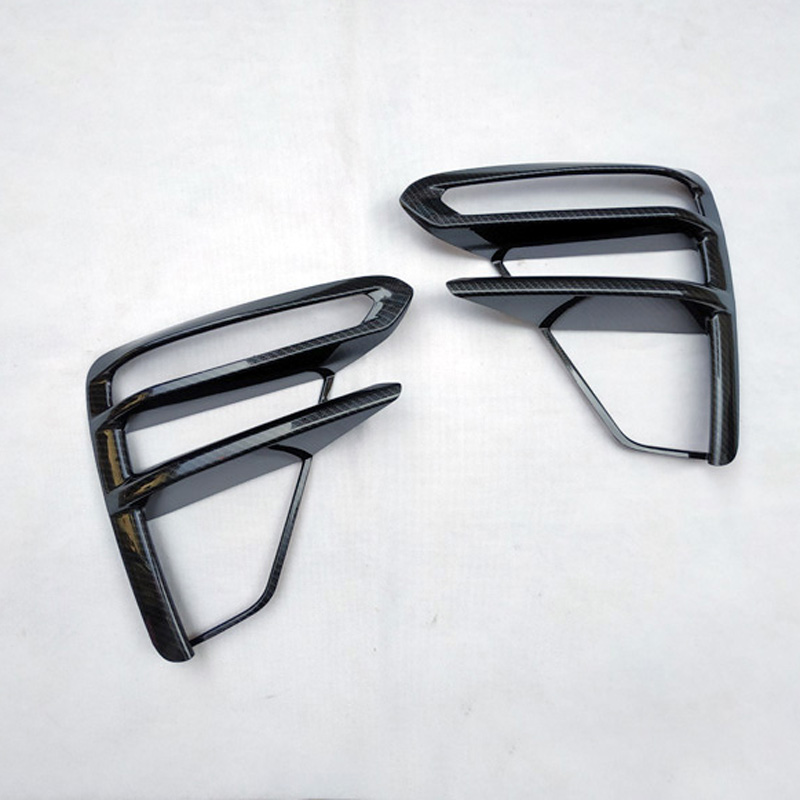 For Kia Cerato K3 4 2019 Front Fog Light Trim Cover Car Accessories Plastic Colors Carbon Fiber