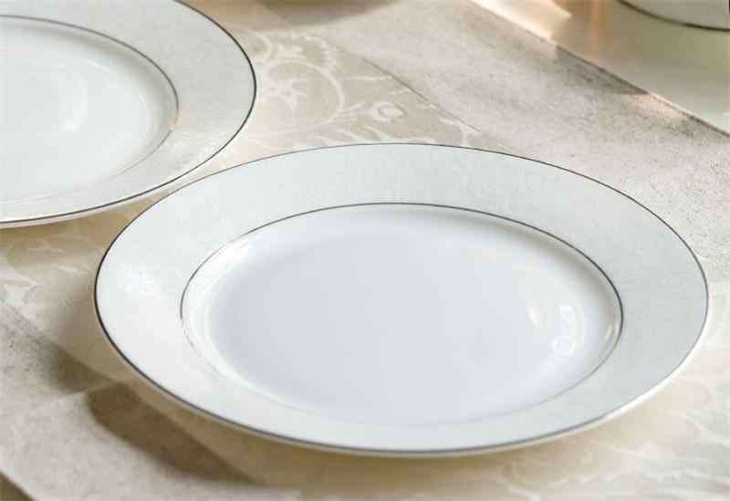 8 pollici, bianco bone china piatti della cena, dello smalto piatto di frutta, piatto di porcellana cinese, piatto di ceramica da tavola, ristorante forniture