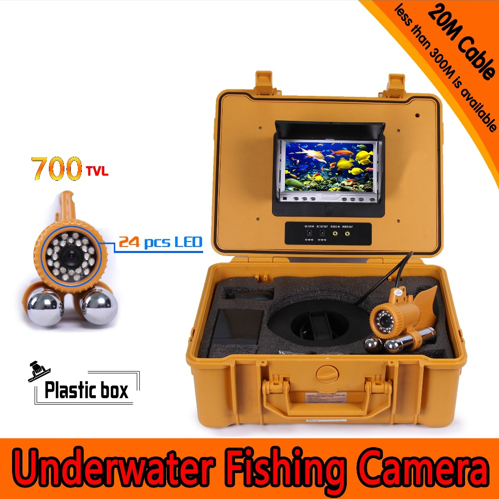 (1 Set) 20M Cable 7 inch TFT-LCD Color Screen HD700TVL CMOS Fish finder Inspection Camera Underwater Fishing camera dual-pandent цена 2017