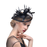 2018 Hot Sale Beautiful Birdcage Bridal Hats Feathers Bride Wedding Hats In Stock Elegant Wedding Accessories