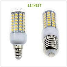 AC220V 240V E27 E14 Led Bulbs Light Lamps 5730 69leds LED Corn Led Bulb Christmas lampada