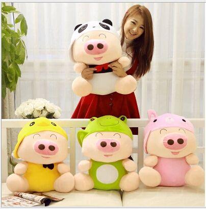 Gros jouet créatif en peluche animal mcterne cochon belle poupée cochon cadeau environ 70 cm