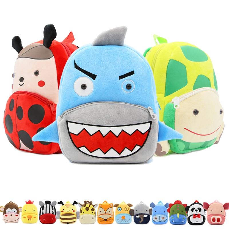 Cartoon Animals Children School Bags Cozy Soft Plush For Toddler Baby Snacks Candy Backpack Kindergarten Kids Mochila Infantil