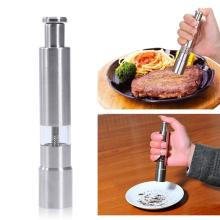 Stainless Steel Manual Pepper Mill Grinder Portable Kitchen Gadget Home Spice Sauce Salt and Pepper Grinder 2pcs 8 inches creative wooden salt and pepper mill tool spice salt and pepper grinder manual grinder kitchen gadgets tools