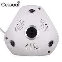 HD 1 3MP WiFi 360 VR Panoramic Fisheye IP Camera Night Vision Cam US UK AU