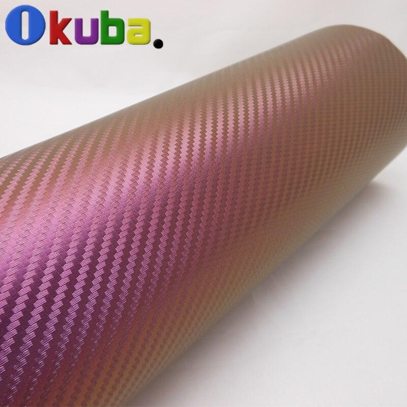 Chameleon carbon fiber car sticker vinyl wrap with Air bubble free size 1 52 30m Fedex