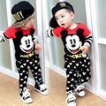 2017 fashion high quality Boys and girls Children's clothing Long sleeves and trousers Set 2 pieces suit Cotton products