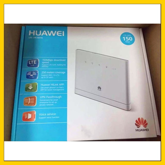 unlocked CAT4 150Mbps Huawei B315 B315s 22 4G LTE CPE Wireless Router wifi  device up to 32 users-in Wireless Routers from Computer & Office on